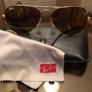 Ray Ban Aviators Brown lens large